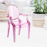 1/6 Miniature Doll House Simulation Armchair Plastic Chair Decoration #GD