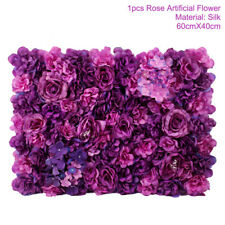 Artificial Silk Hydrangea Rose Flower Wall Panel Home Wedding Backdrop Decor