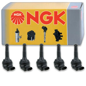 5 pcs NGK Ignition Coil for 2016 Volvo XC70 2.5L L5 - Spark Plug Tune Up Kit an
