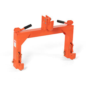 Titan Attachments Orange Category 1 and 2, 3 Point Quick Hitch