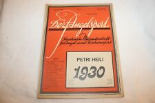 DER ANGELSPORT-1930-HEFT Nr-1