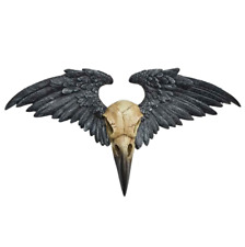 Alchemy Gothic Vault Resin Ravenger Winged Corvus Bird Skull Wall Mount Plaque