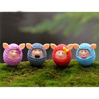 4pcs Cartoon Cute Mini Animals Model Puzzle Diy Lovely Wool Pigs Dolls Kids、2~JP