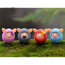 4pcs Cartoon Cute Mini Animals Model Puzzle Diy Lovely Wool Pigs Dolls Kids Toys