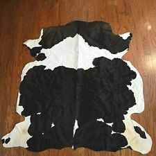Classic Black and White Cowhide Rug