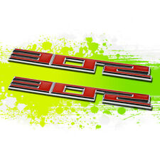 X2 Chrome Red SBC 302 5.0 Metal Bumper Trunk Grill Emblem Decal Sticker Badge
