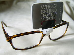 "Foster Grant""Owen"" Plastic Framed Reading Glasses RRP Upto £12.50 Now £4.99"