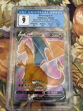 Pokemon Charizard V Promo SWSH050 Gem Mint CGC 9 Champions Path ETB