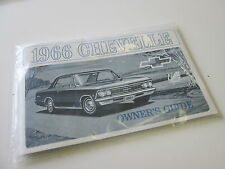 1966 66 CHEVROLET CHEVELLE MALIBU NEW OWNERS MANUAL