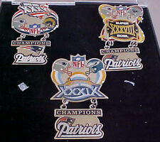 SET OF 3 NEW ENGLAND PATRIOTS SUPER BOWL CHAMPS HANGING CHAMPS PINS 36 38 39