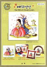 """""""The couple of Korean Traditional Costume"""" Cross stitch chart. SODA SO-3166"""