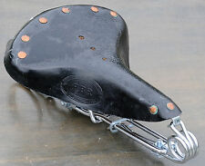 Black Leather Hairpin Saddle Vintage Schwinn Chopper Rat Rod Cruiser Bike Seat