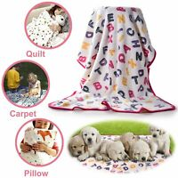 Soft Fluffy Pet Blankets Flannel Fleece Dog Cat Puppy Kitten for Warm Sleep Bed