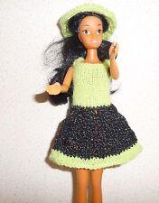vêtements  pour barbie robe  paillette capeline NEUF lavables et résistants