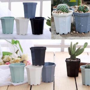 4pcs/Lot Plastic Flower Pot Succulent Plant Planters For Home Office Decoration