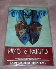 VTG 1993 INDYGO JUNCTION LADIES VEST & NECKLACE PATTERN Pieces & Patches UNUSED