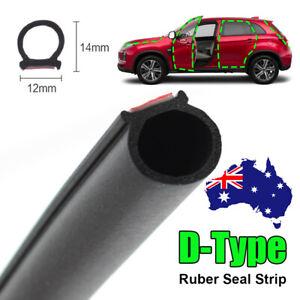 Universal Car Rubber Door Seal Strip Hollow Edge Guard Weatherstrip Big D-Shape