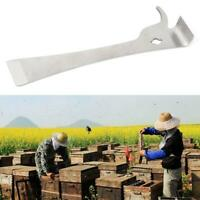 Stainless Steel Polished Bee Hive Hook Scraper Beekeeping Tool Pry Equipment
