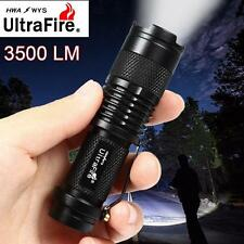 UltraFire 3500 lm Q5 14500 AA 3mode Mini linterna zoom LED Linterna Negro O8