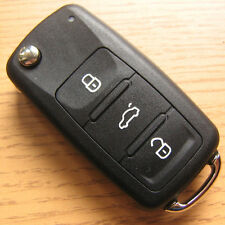 3 Button Remote Flip Key FOB Case VW Golf mk5 mk6 mk7 Passat B7 CC Polo 6R 6C
