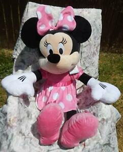 """Disney Baby~Pink Polka Dotted Minnie_Mouse~HUGE 37"""" Stuffed Plush Doll~Hang-Tag"""