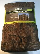 """Camo Burlap 12' X 54"""" Allen Brand For Tree Stands, Waterfowl & Ground Blinds New"""