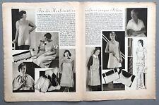 More details for vintage german sewing pattern magazine lingerie sleepwear clothes 1930s (c)