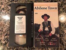 Abilene Town VHS! 1946 Western! Wichita Blue Steel Sugarfoot Colt. 45 Fort Worth