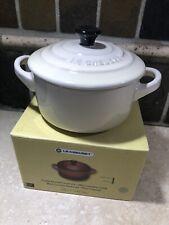 """Dune"" 8 Oz Mini Round Cocotte LE CREUSET Stoneware Petite Dutch Oven with Lid"