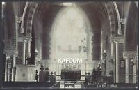 Shedfield, Winchester. St. John the Baptist Church Interior. c1906 Real Photo PC