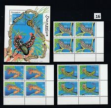 LC SOMALIA 1999 - MNH - INSECTS - CATERPILLARS - ART PAINTING