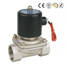 "1/2"" NPT 12V DC Stainless Steel 304 Electric Solenoid Valve Normally Closed"