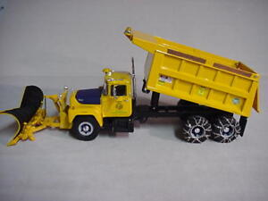 NEW YORK NY STATE DOT METAL MACK DUMP TRUCK +SNOW  PLOW RARE FIRST GEAR