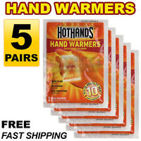 5 Pairs (10pcs) HotHands Hand Warmers Safe Natural Odorless Heat Free Shipping