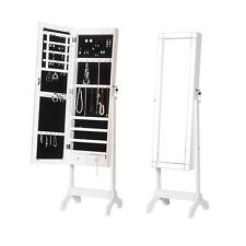 Schmuckschrank Standspiegel Ganzkörperspiegel Ankleidespiegel mit LED MB0014ws