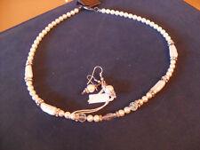 Parure collana orecchini perle coltivate/fiume Swarovsky e Cristalli di Rocca
