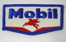 """MOBIL OIL & GAS Embroidered Iron-On Uniform-Jacket Patch 3.5"""""""