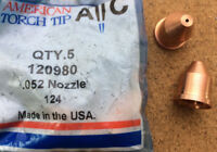 Nozzle Unshielded 80A Plasma Cutting American Torch Tip 120980 PM1250 Multi Qty