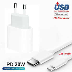 20W Fast Charger USB-C Ladegerät Power Adapter With PD Cable For iPhone 12 Serie
