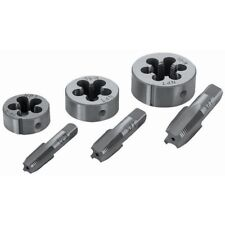Pipe Tap & Die Set 6 Pc To  Cleans  Cuts or Renews  Threads