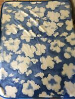 Vintage San Marcos Blue Sky Clouds Blanket Gorgeous Mexican Throw 50x60""