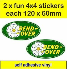 2 off road 4x4 fun stickers decals YORKSHIRE ROSE land rover defender discovery