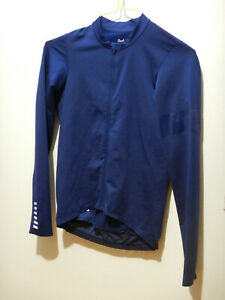 Rapha Pro Team Long Sleeve Midweight training jersey size small navy