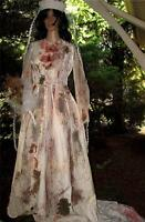 OOAK Deluxe Women's Victorian Custom Zombie Corpse Bride Walking Dead Lot size S