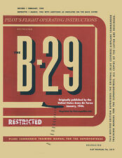 B-29 Bomber Pilot's Flight Operating Manual Paperback