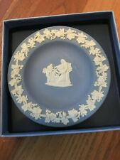 Wedgwood blue 4 1/2 inch dish Cupid as Oracle Jasperware