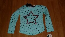 C LETTE LILLY GIRLS SHIRT TOP SIZE S 4 MINT GREEN BEADED MSRP:$20.00 NWT