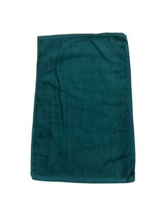 """Set (12) Forest Green Hemmed Hand Towels 25"""" Long By 16"""" Wide"""