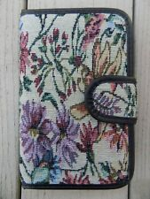 Tapestry Covered Pill Case Sorter Travel Snap Close