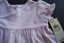 NWT Baby PINK STRIPE Ralph Lauren POLO Short Sleeve 2pc DRESS $35 Free Ship 3M
